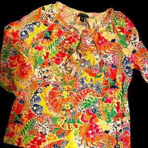 Ralph Lauren 3/4 sleeve XL women's floral shirt!